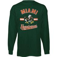 Miami Hurricanes Youth Green Game Day Long Sleeve T-Shirt