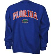 Florida Gators Royal Tackle Twill Crewneck Sweatshirt