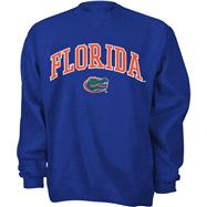 Florida Gators Youth Royal Tackle Twill Crewneck Sweatshirt