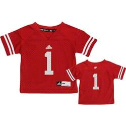 Wisconsin Badgers Infant Football Jersey: Infant Red #1 adidas Replica Football Jersey