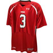 Utah Utes Red Under Armour Performance Replica Football Jersey: Utah Utes # Football Jersey