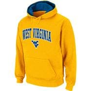 West Virginia Mountaineers Arched Tackle Twill Hooded Sweatshirt