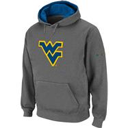 West Virginia Mountaineers Big Logo Tackle Twill Hooded Sweatshirt