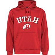 Utah Utes Cardinal Youth Performance Fleece Hooded Sweatshirt