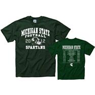Michigan State Spartans 2012 Football Season Schedule T-Shirt