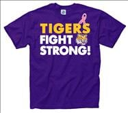 LSU Tigers Breast Cancer Awareness Fight Strong T-Shirt