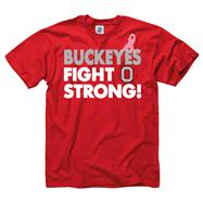 Ohio State Buckeyes Breast Cancer Awareness Fight Strong T-Shirt