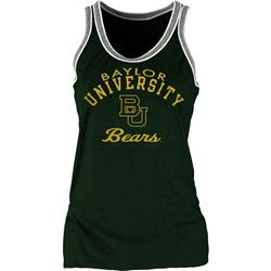 Baylor Bears Women's Double Ringer Tri-Blend Tank Top