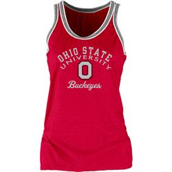 Ohio State Buckeyes Women's Double Ringer Tri-Blend Tank Top