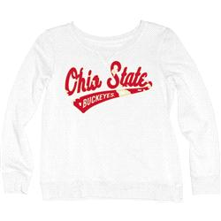 Ohio State Buckeyes Women's Beach Fleece Cozy Twill Crewneck Sweatshirt