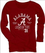 Alabama Crimson Tide Women's Medusa Scoopneck Long Sleeve T-Shirt