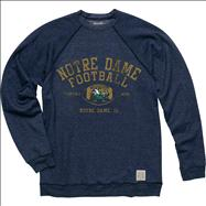 Notre Dame Fighting Irish Original Retro Brand Football Super Soft Crewneck Sweatshirt