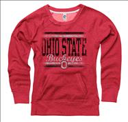 Ohio State Buckeyes Women's Boundary Ring Spun Scoopneck Sweatshirt