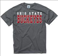 Ohio State Buckeyes Charcoal Straight Line T-Shirt
