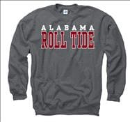 Alabama Crimson Tide Charcoal Straight Line Crewneck Sweatshirt