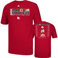 Louisville Cardinals adidas 2013 March Madness Tournament Bracket T-Shirt