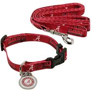 Alabama Crimson Tide Dog Collar & Leash Set