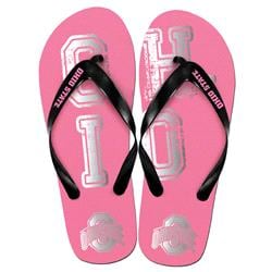 Ohio State Buckeyes Womens Pink Slogan Flip Flop
