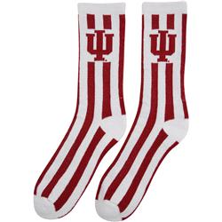 Indiana Hoosiers Candy Stripe Crew Socks