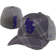 LSU Tigers Charcoal Tartan Flex Hat
