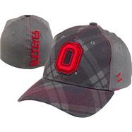 Ohio State Buckeyes Charcoal Tartan Flex Hat