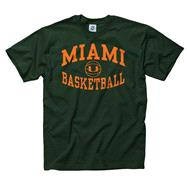 Miami Hurricanes Dark Green Reversal Basketball T-Shirt