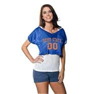 Boise State Broncos Women's Cropped Top Mesh Jersey