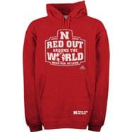 Nebraska Cornhuskers adidas Red Out Logo Fleece Hooded Sweatshirt