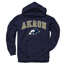 Akron Zips Navy Perennial II Hooded Sweatshirt