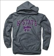 Kansas State Wildcats Dark Heather Perennial II Hooded Sweatshirt