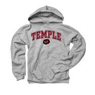 Temple Owls Youth Grey Perennial II Hooded Sweatshirt
