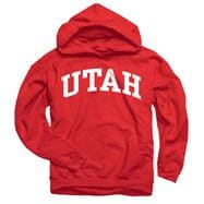 Utah Utes Youth Red Arch Hooded Sweatshirt