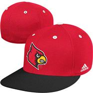 Louisville Cardinals adidas On Field Baseball Fitted Hat