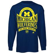 Michigan Wolverines Navy adidas Mountain Top Long Sleeve T-Shirt