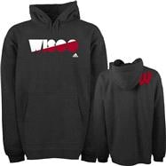 Wisconsin Badgers Grey adidas XL Mascot Name Hooded Sweatshirt