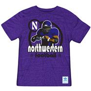 Northwestern Wildcats Heather Purple adidas Originals Iron Heat Gridiron Tri-Blend T-Shirt