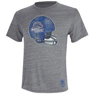 Boise State Broncos Heather Grey adidas Originals Big Retro Helmet Tri-Blend T-Shirt