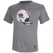 South Carolina Gamecocks Heather Grey adidas Originals Big Retro Helmet Tri-Blend T-Shirt