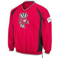 Wisconsin Badgers Red Hardball Pullover Jacket
