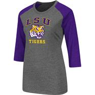 LSU Tigers Purple Women's Nimbus 3/4 Sleeve T-Shirt