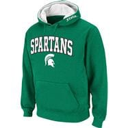 Michigan State Spartans Dark Green Twill Tailgate Hooded Sweatshirt