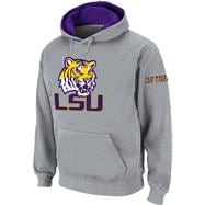 LSU Tigers Heather Grey Twill Tailgate Hooded Sweatshirt