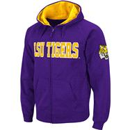 LSU Tigers Purple Twill Tailgate Full-Zip Hooded Sweatshirt