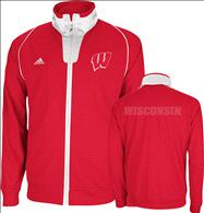 Wisconsin Badgers Red adidas On-Court Basketball Warm-Up Jacket