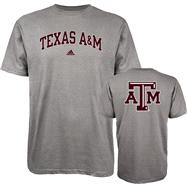 Texas A&M Aggies adidas Grey Relentless T-Shirt