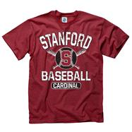 Stanford Cardinal Cardinal Jock Baseball T-Shirt