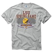 LSU Tigers Grey Spring Football Game T-Shirts
