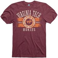 Virginia Tech Hokies Maroon Button Up Ring Spun T-Shirt