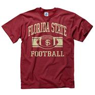 Florida State Seminoles Garnet Wide Stripe Football T-Shirt