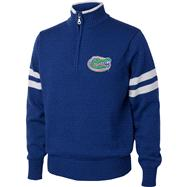 Florida Gators Royal/White 1/4 Zip Pullover Sweater